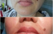 Перманентный макияж, татуаж губ, фото до и после, студия Салем